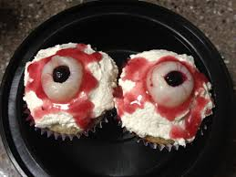 a soy bean vegan 2012 bloody eyeball cupcakes and a
