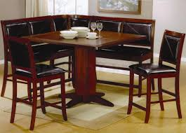 Rectangle Kitchen Table With Bench Endearing Design Leather Bench With Back Style Home Furniture