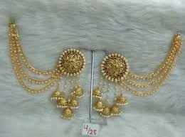 jhumka earring women gold plated indian fashion party ethnic bridal