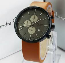 Jam Tangan Alexandre Christie Cowok jam tangan alexandre christie 6415 tali kulit harga murah