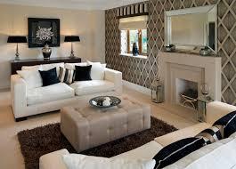 living room chevron pattern wallpaper and soft living room