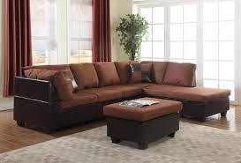 microfiber sectional with ottoman chocolate microfiber sectional sofa ottoman trader dan s