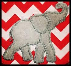 applique zig zag zig zag elephant applique embroidery design