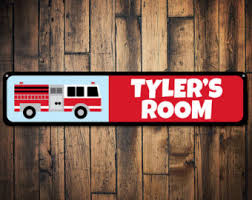 Fireman Kids Room Etsy - Firefighter kids room
