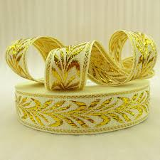 gold metallic ribbon 5y42229 1 25mm gold metallic ribbon high quality printed