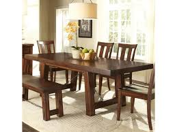 liberty furniture tahoe trestle table with iron support stretcher