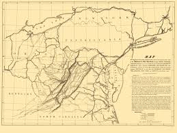Trenton Zip Code Map by Old Railroad Map Baltimore And Ohio Railroad 1840