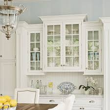 Wall Kitchen Cabinets With Glass Doors with Elegant Kitchen Kitchens Blue Ceilings And Glass Doors