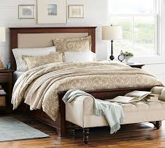 Storage Bed With Headboard Cynthia Upholstered Storage Bed Pottery Barn