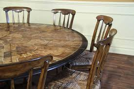 charming round dining table for 6 with leaf including valencia six
