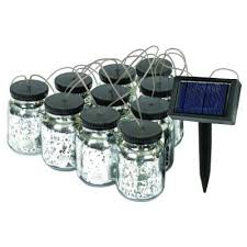 malibu black solar jar string light 8517 5503 10 the home