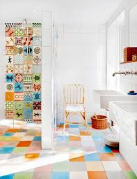 Bathroom Floor Tile Design Colors Best 25 Multicoloured Bathrooms Inspiration Ideas On Pinterest