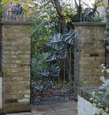 wrought iron garden gate bexsimon leaf garden gate wow thru the