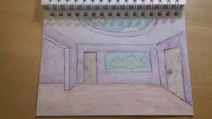192 how to draw cool easy cartoon room background youtube