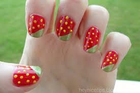 hey nice tips strawberry nail art