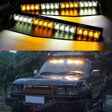 strobe lights for car headlights 32 led warning visor strobe light bar mount dash deck flash