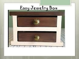 Wood Box Plans Free by Ana White Easy Jewelry Box Diy Projects