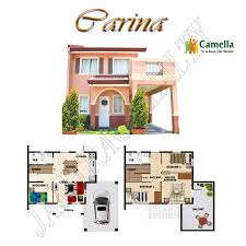 Camella Homes Drina Floor Plan by Camella Cielo Carina Model House Jamtrac Realty