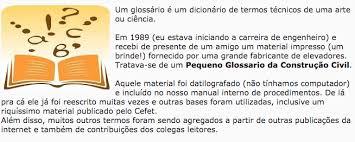 Famosos Ênio Padilha Artigo: GLOSSÁRIO DA CONSTRUÇÃO CIVIL &AY66