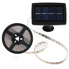 indoor solar lights amazon amazon com solar strip lights beswill 16 4 feet led flexible and