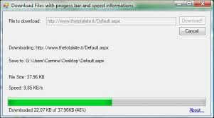 File Resume Download Downloading Files In Net With All Information Progressbar