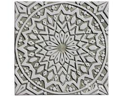Moroccan Pattern Art Moroccan Wall by Moroccan Wall Hanging Glazed In White And Beige Moroccan Tile