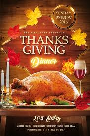 thanks giving dinner free psd flyer template http freepsdflyer