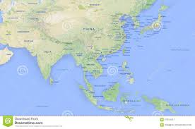 Asia Map by Asia Map Stock Illustration Image 57814411