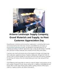 Landscape Supply Company by Arizona Landscape Supply Company Grand Materials And Supply To Host U2026