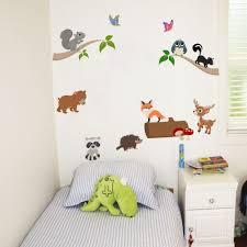 Bedroom Jungle Wall Stickers Jungle Wall Sticker For Kids Bedroom Safari Animal Nursery Wall