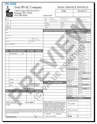 Air Conditioning Invoice Template by Free Design Fast Shipping On Hvac Forms Hvac Invoices Work