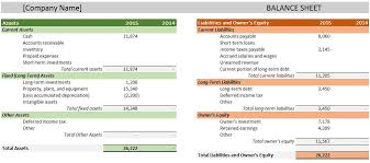 Excel Balance Sheet Template Free Free Accounting Templates In Excel