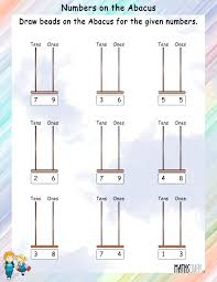 Number 13 Worksheet Draw Beads On The Abacus For The Given Number Mathsdiary Com