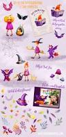 kids halloween clip art watercolor halloween clipart witch hat clipart watercolor