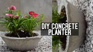 Concrete Planter Diy Concrete Planter Youtube