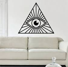 Beautiful Wall Stickers For Room Interior Design All Seeing Eye Illuminati Design Decal Sticker Wall Vinyl Decor