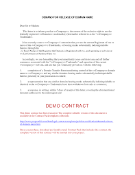 legal demand letter template release of domain name demand release of domain name
