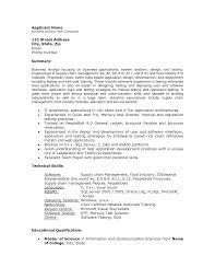 Supply Chain Management Skills For Resume Technical Analyst Resume Sle 28 Images Technical Skill Resume