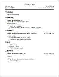 resume templates no experience exle of a resume with no experience menu and resume