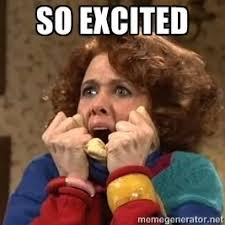 Excited Meme - so excited kristen wiig surprise my style pinterest memes
