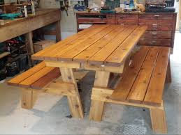 Free Plans For Picnic Table Bench Combo by Ana White Convertible Picnic Benches Diy Projects
