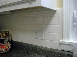 best white subway tile kitchen backsplash all home decorations