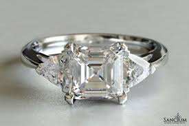 wedding rings nz asscher and trillion three engagement ring new zealand