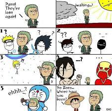 Getting Lost Meme - when zoro gets lost otakusmash
