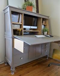 Diy Door Desk White Drop Door Hutch Desk Diy Projects