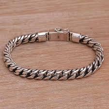 cuban chain bracelet images Balinese handmade sterling silver cuban link chain bracelet jpg