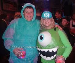 Monsters Inc Costumes Awesome Mike And Sully Monsters Inc Couples Costume