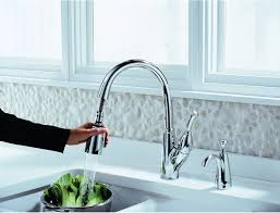 delta allora kitchen faucet delta 989 dst allora single handle pull kitchen faucet with