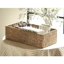 cheap wicker storage baskets for hiding clutter or projects in