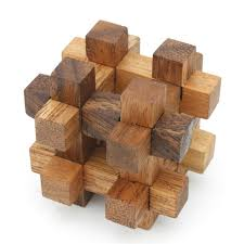 6 wooden puzzles deluxe gift box wood 3d logic brain teaser